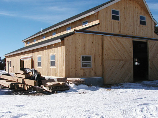 Wind River Timberframes Shop Exterior