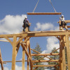 Timber Frame Raising 04