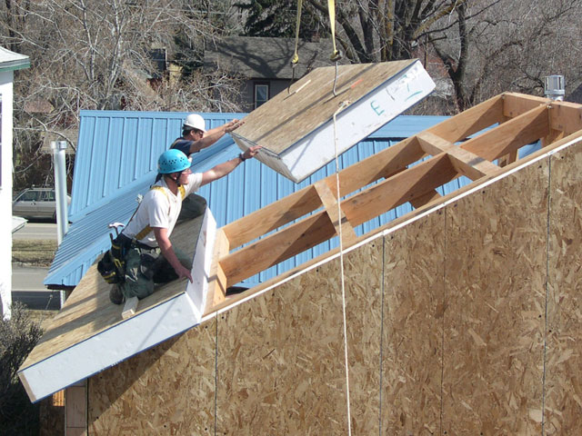 Insulated Roof Panels : Sip roof sips