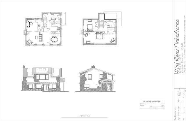 Arkansas River Timber Frame Floor Plan