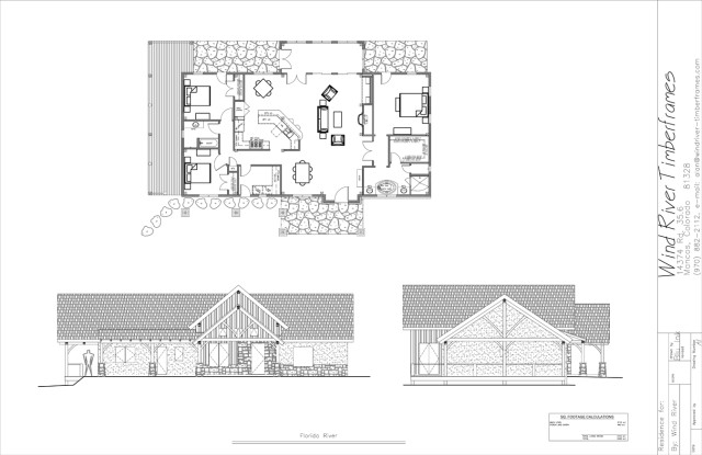 Florida River Timber Frame Floor Plan