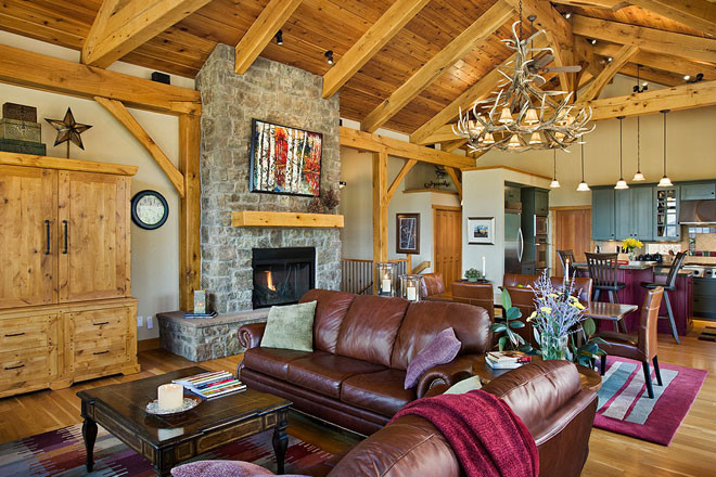 Castle Rock Timber Frame Living Room