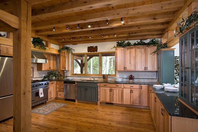 Horse Gulch Timber Frame Kitchen