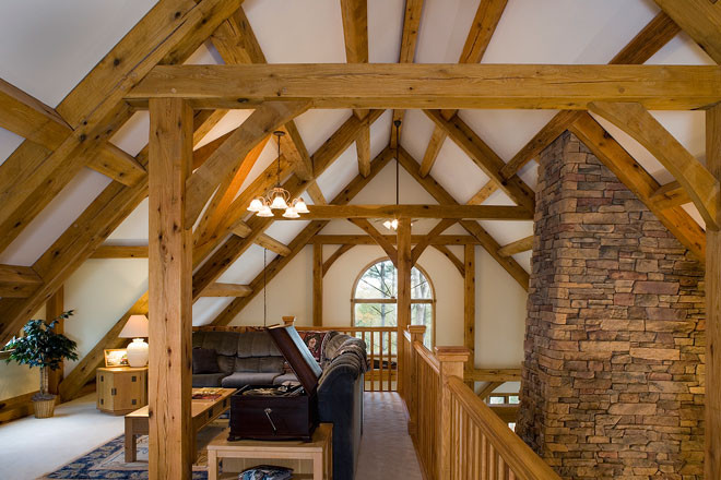 Horse Gulch Timber Frame Loft