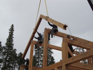 Raising Muffly Timber Frame
