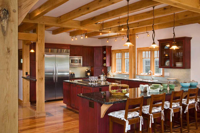 Purgatory Timber Frame Kitchen