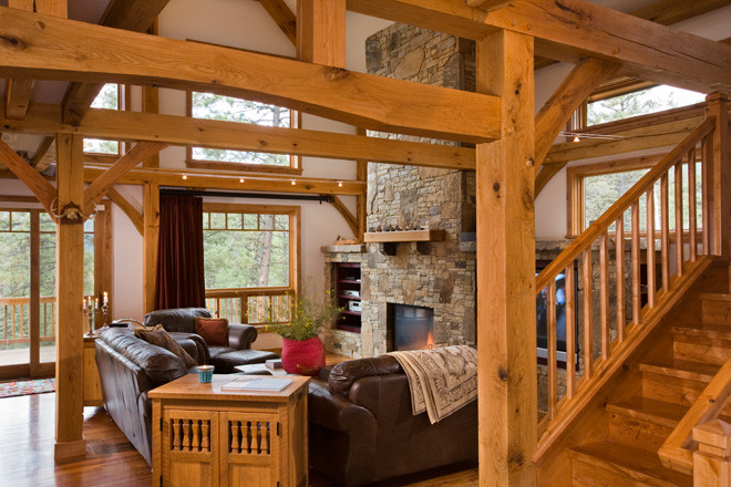 Purgatory Timber Frame Living Room