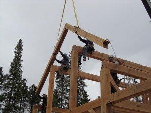 Raising Muffly Timber Frame