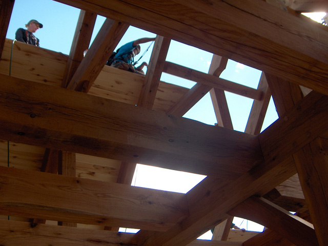 Tongue Amp Groove Ceiling Installation 187 Wind River Timberframes