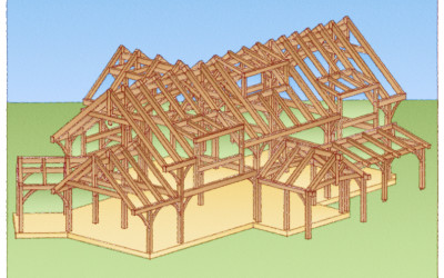 Leydon Timber Frame Rendering