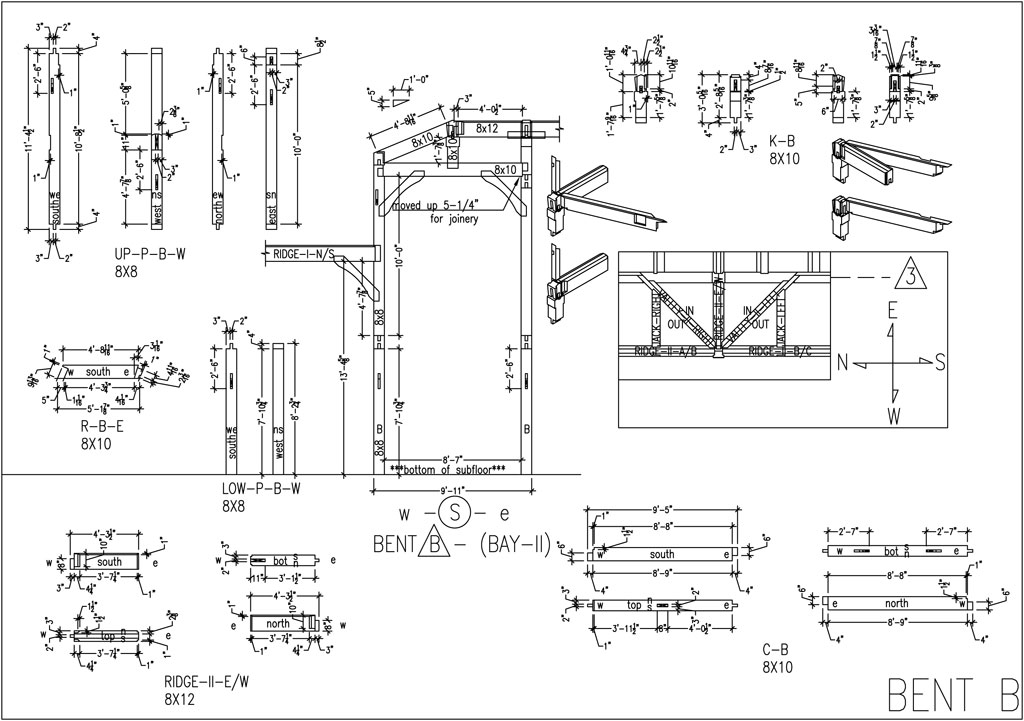 Shop drawings wind river timberframes for Shop construction plans