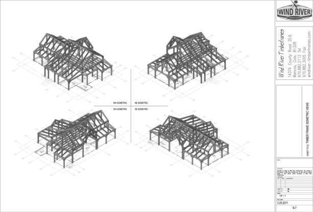 Timber Frame Plans Cover Sheet