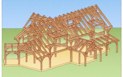 Leydon Timber Frame Rendering