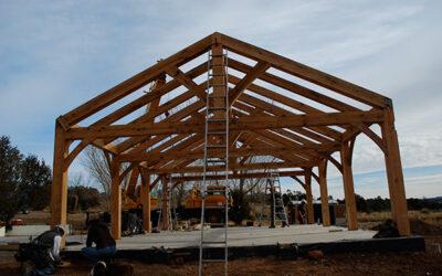 Wood Frame Raising | Wind River Timberframes