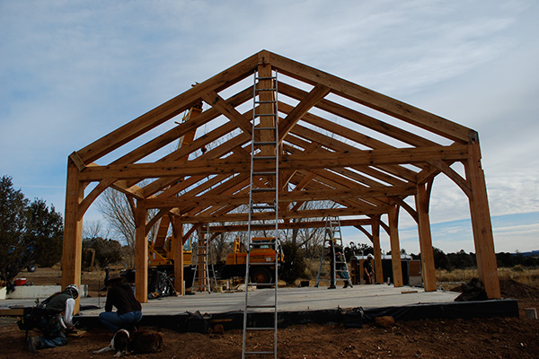 Wood Frame Raising | Wind River Timberframes