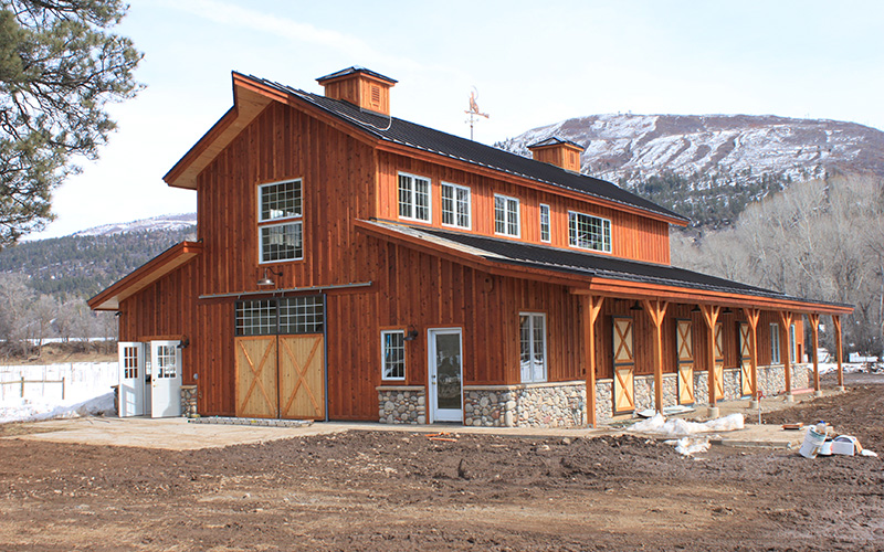 Timber Frame Horse Barn - Wind River Timberframes