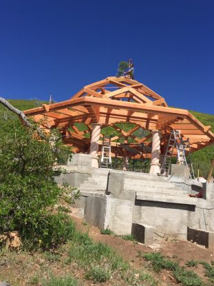 Wind River Timberframes   Murshid Sam Dargah Timber Frame Completed