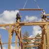 Timber Frame Raising 04