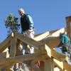 Timber Frame Raising 07