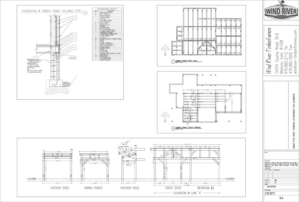 Frame design wind river timberframes for Timber framing plans